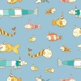 Muster mit Fischen Lizenzfreie Stockfotos