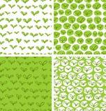 Muster mit frischen grünen Blättern Stockbilder