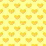 Muster mit gekritzelten Herzen Stockbild