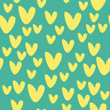 Muster mit gelben Herzen Lizenzfreie Stockbilder
