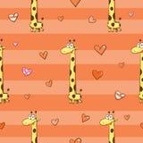 Muster mit Giraffen Stockbilder