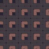 Muster mit glatten Linien in der ethnischen Art lizenzfreie abbildung