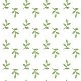 Muster mit grünem Zweig Stockfotos