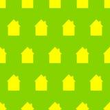 Muster mit Häusern Lizenzfreies Stockbild