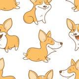 Muster mit Hunden Lizenzfreie Stockfotos