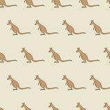 Muster mit Känguru Stockfotos