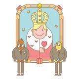 Muster mit Königin und Sicherheit Lizenzfreies Stockfoto