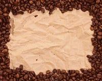 Muster mit Kaffee Stockfotografie