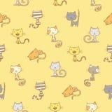 Muster mit Katzen Lizenzfreie Stockbilder