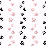 Muster mit Katzenspuren Stockfotografie