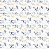 Muster mit Klecksen Stockbild
