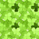 Muster mit Klee Stockfoto