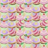 Muster mit kleinem Kuchen Lizenzfreies Stockfoto