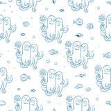 Muster mit Krake Stockbilder