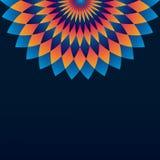 Muster mit Kreisverzierungsmandala und -raute Stockbild