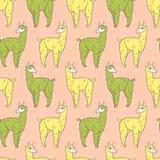 Muster 01 mit 092 Lamas Lizenzfreie Stockbilder