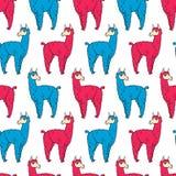 Muster 01 mit 092 Lamas Stockfotos