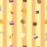 Muster mit Lebensmittel Stockfotos