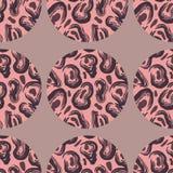 Muster mit Leopardbeschaffenheit vektor abbildung