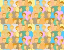 Muster mit Leuten Stockbild
