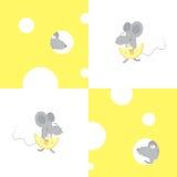 Muster mit Mäusen Stockfotografie