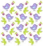 Muster mit netten Vögeln Stockfotografie