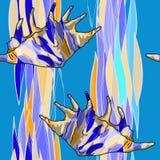 Muster mit Oberteil für Seegewebe Lizenzfreies Stockbild