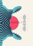 Muster mit optischer Illusion Abstrakter geometrischer Hintergrund 3d Asiatische Vektorillustration lizenzfreie abbildung