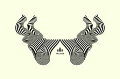 Muster mit optischer Illusion Abstrakter geometrischer Hintergrund 3d Auch im corel abgehobenen Betrag stock abbildung