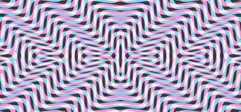 Muster mit optischer Illusion Abstrakter gestreifter Hintergrund Auch im corel abgehobenen Betrag lizenzfreie abbildung