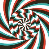 Muster mit optischer Illusion Abstrakter gestreifter Hintergrund Auch im corel abgehobenen Betrag vektor abbildung