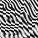 Muster mit optischer Illusion Schwarzweiss-Design Abstrakter gestreifter Hintergrund Auch im corel abgehobenen Betrag lizenzfreie abbildung