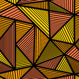 Muster mit orange Dreieck Lizenzfreies Stockfoto