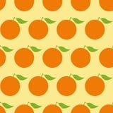 Muster mit Orangen Stockfotografie