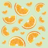 Muster mit Orangen Stockbilder