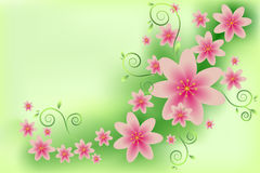 Muster mit rosa Farben Stockbilder