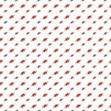 Muster mit rotem Ball auf weißem Hintergrund Lizenzfreies Stockfoto