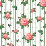 Muster mit schönen Rosen Lizenzfreie Stockfotografie