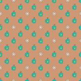 Muster mit Schalen und Lebkuchenschneeflocken stock abbildung