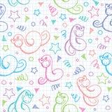 Muster mit Schlangen Lizenzfreies Stockfoto