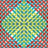 Muster mit schneidenen Linien auf einem Weiß Stockfotografie