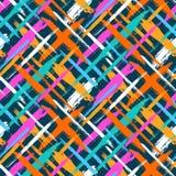 Muster mit Schrägstreifen und Kreuzen Stockfotos