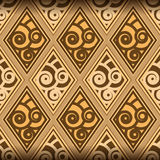 Muster mit Spiralen und Rauten Stockfotos
