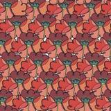Muster mit stilisierten Mohnblumen Stockfoto