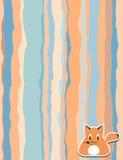 Muster mit Streifen und Fuchs für Ihr Design Stockfotografie
