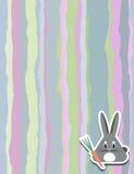 Muster mit Streifen und Kaninchen für Ihr Design Lizenzfreie Stockfotos