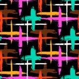 Muster mit Streifen und Kreuzen Stockfoto