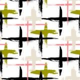 Muster mit Streifen und Kreuzen Lizenzfreie Stockfotos