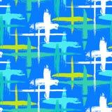 Muster mit Streifen und Kreuzen Stockbilder