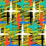 Muster mit Streifen und Kreuzen Lizenzfreie Stockbilder